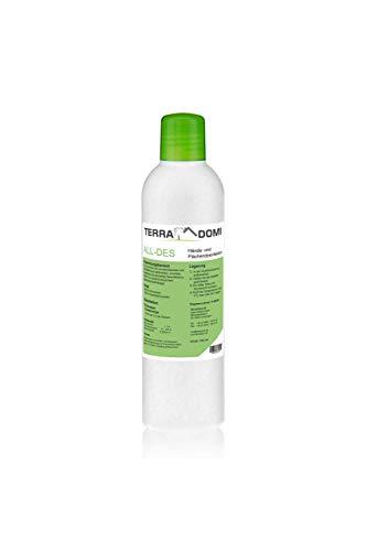 Terra Domi All-des, 250 ml, Konzentrat für 25L Desinfektionsmittel (Dosierung 10ml pro Liter Wasser), Desinfektionsmittel für Körper und Hände, hochkonzentriertes Desinfektionsmittel, Biozertifiziert
