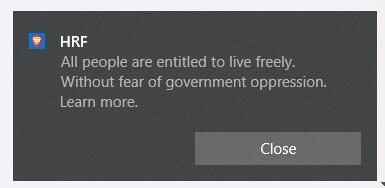 Werbung vom Brave Browser